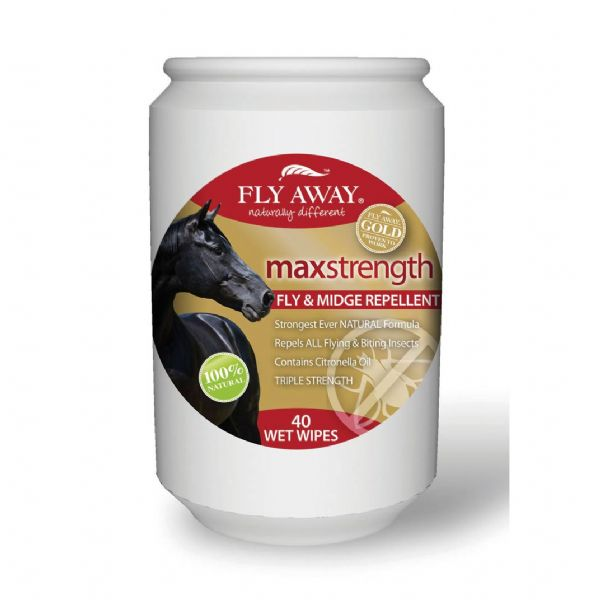 Fly Away Max Strength Fly & Midge Repellent Wet Wipes